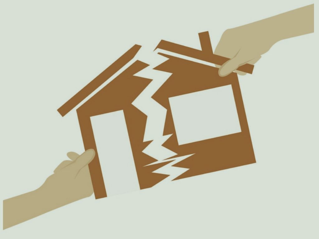 Splitting up a House in a Divorce
